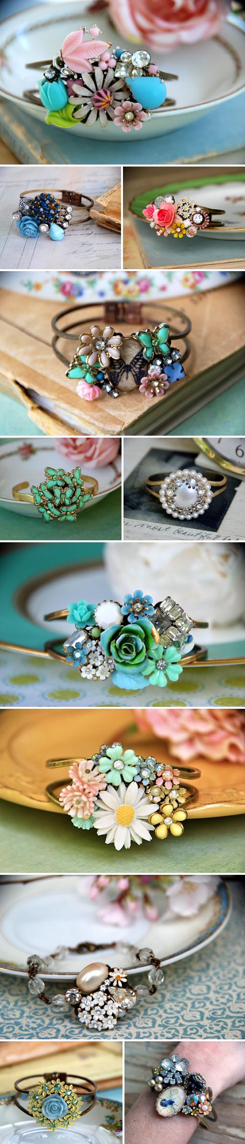 unique-bridal-vintage-bracelets