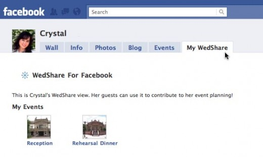 Include wedding details on your Facebook profile