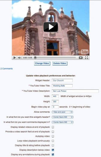 Manage all the options and properties of your videos in one place