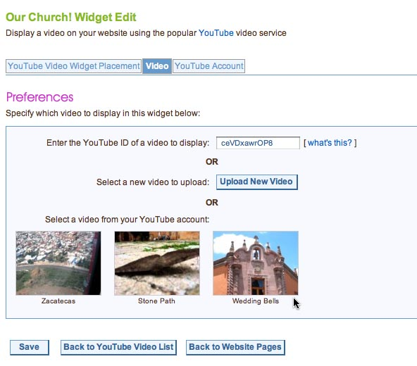 It's easy to manage your YouTube videos, right from WedShare!