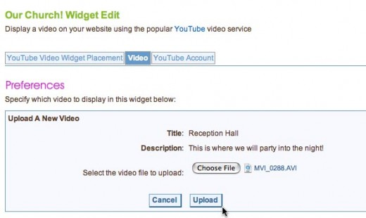 Upload to YouTube and post to your wedding website in one easy step
