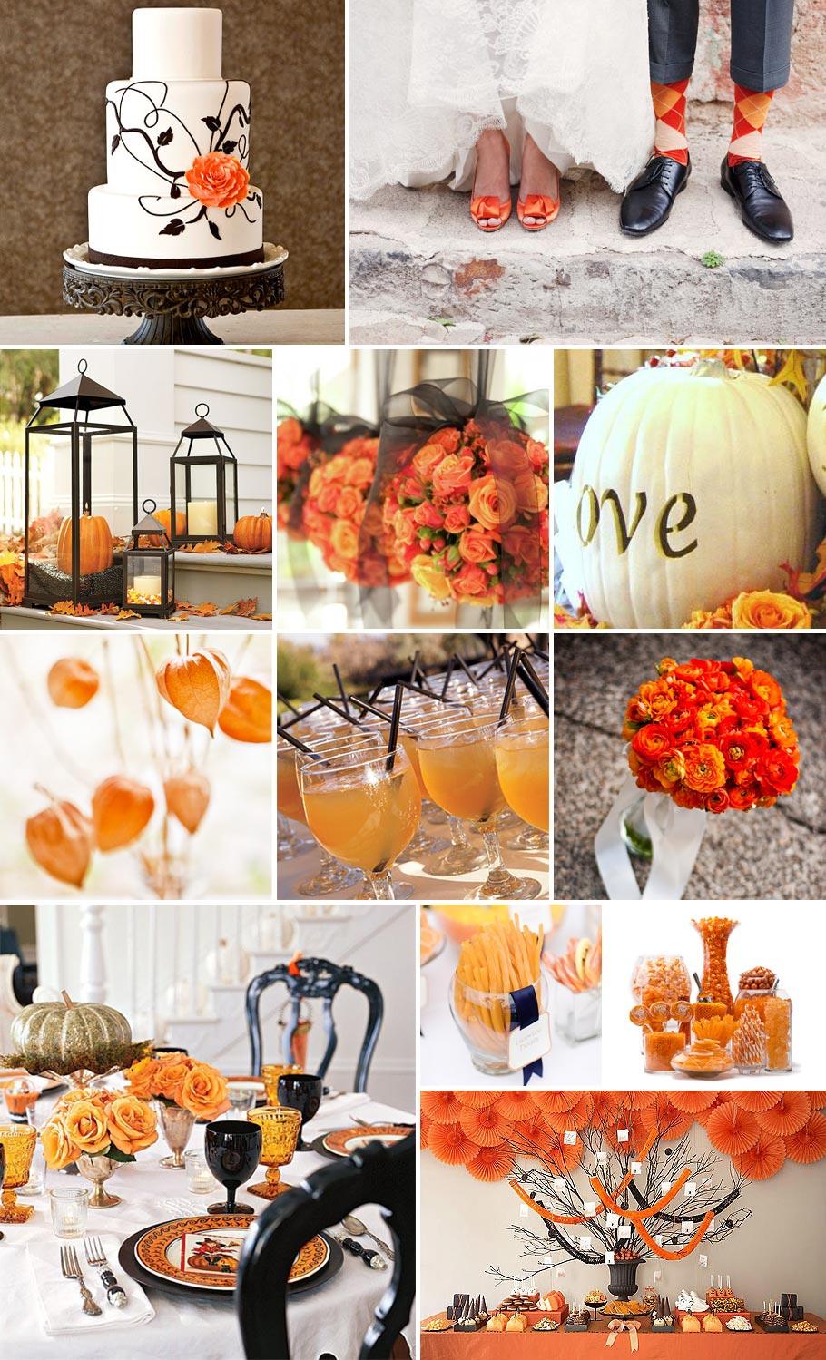Halloween Wedding in Orange and Black | Pixel & Ink