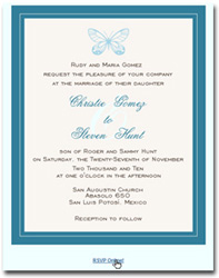 Online Wedding RSVP Integration on eCard Invitations